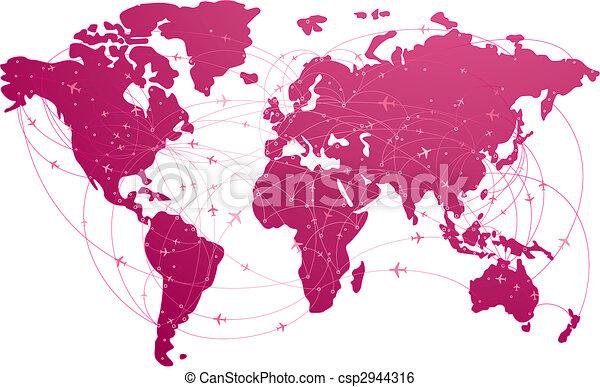 international air route - csp2944316
