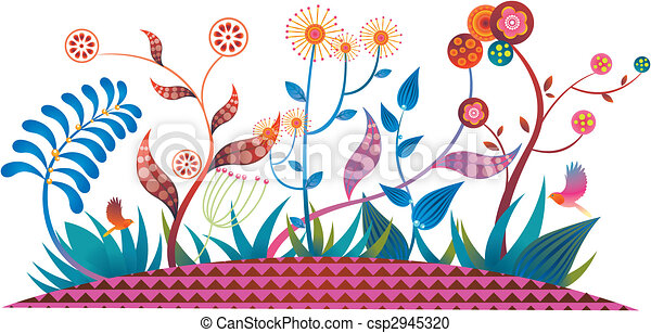 fairytale flowers and plants - csp2945320