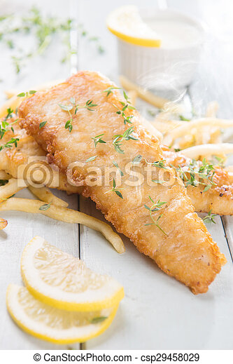 Fish fillet with french fries