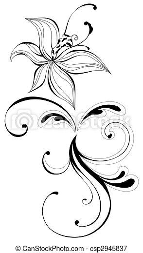 Fleurs noir et blanc dessin - Dessin de fleur en noir et blanc ...