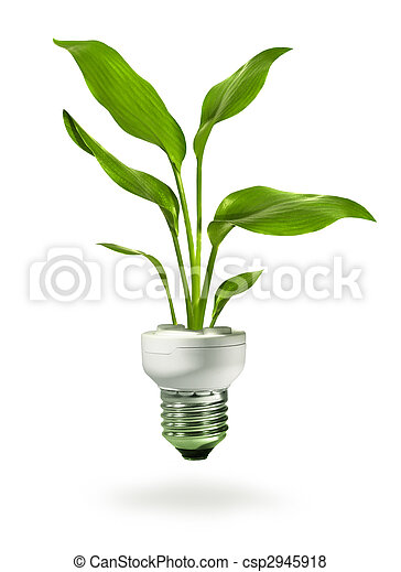 Green growth from energy saving eco lamp - csp2945918
