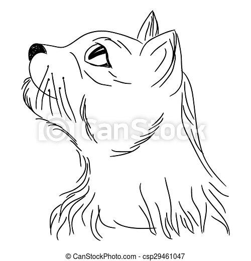 Vecteur eps de regarder portrait haut chat chat dans profil csp29461047 recherchez - Profil dessin ...