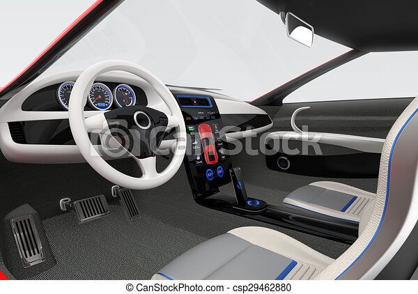 stock illustration of electric vehicle interior design futuristic electric csp29462880. Black Bedroom Furniture Sets. Home Design Ideas