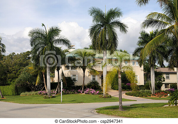 Residential House in Naples, Florida USA - csp2947341