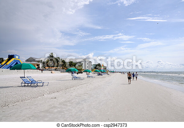 Fort Myers Beach, Gulf of Mexico Coast, Florida - csp2947373