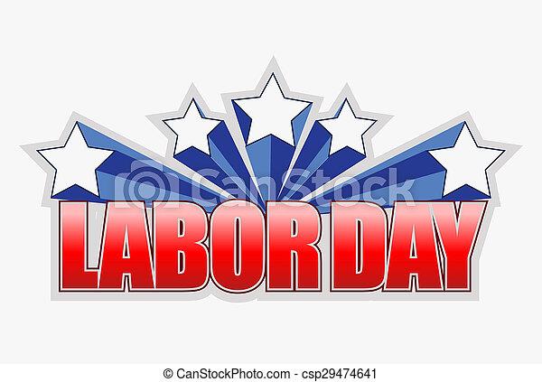 labor day sign illustration design graphic artwork