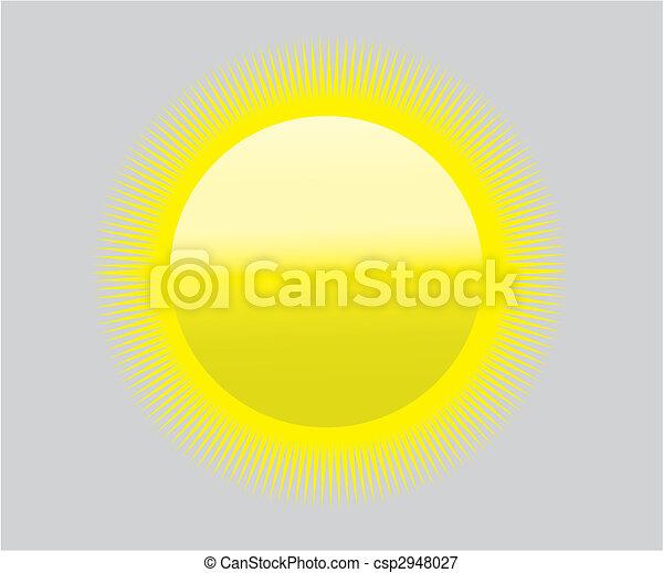 global warming sun icon symbol - heat drought - csp2948027