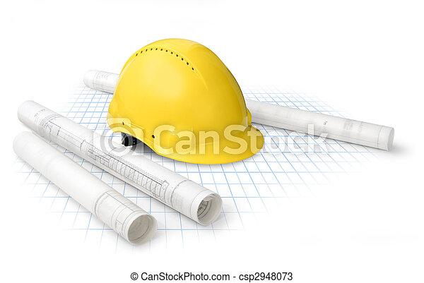 konstruktion, planer - csp2948073