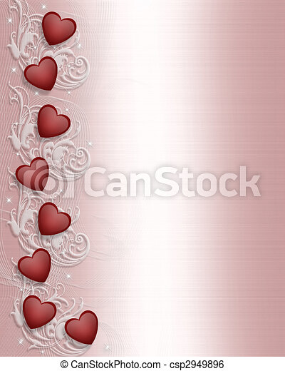 Valentines day Border  - csp2949896