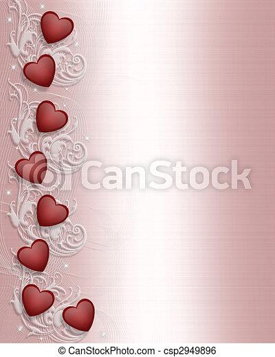 Valentines day Border  - csp2949896