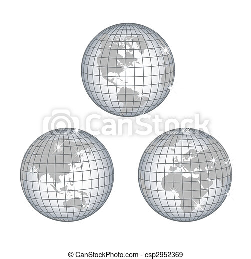 Globe all continents - csp2952369