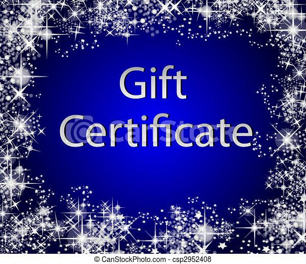 Stock Illustration of Christmas Gift Certificate csp2952408 – Christmas Gift Certificates Free