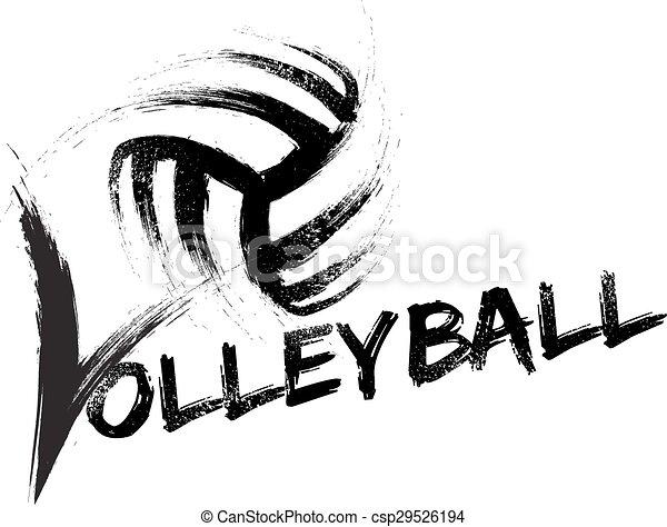 Volleyball Grunge Streaks - csp29526194