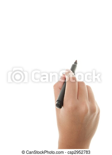 Hand writing - csp2952783