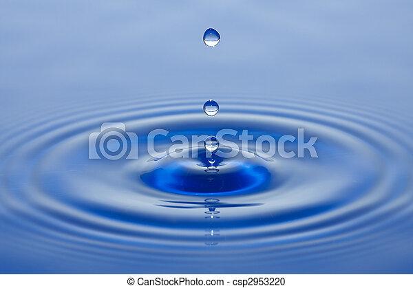 水, 小滴 - csp2953220