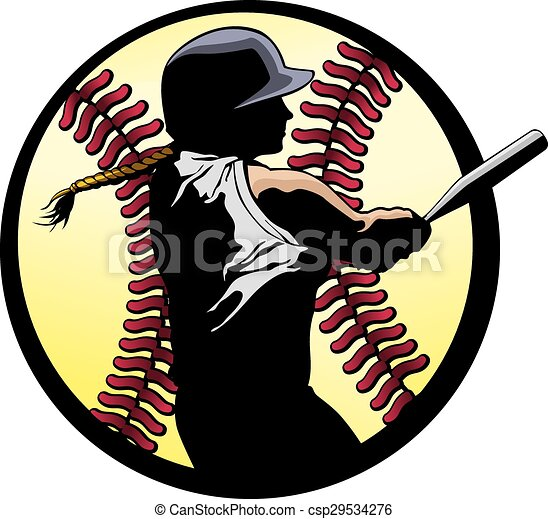 Softball Batter Closeup - csp29534276