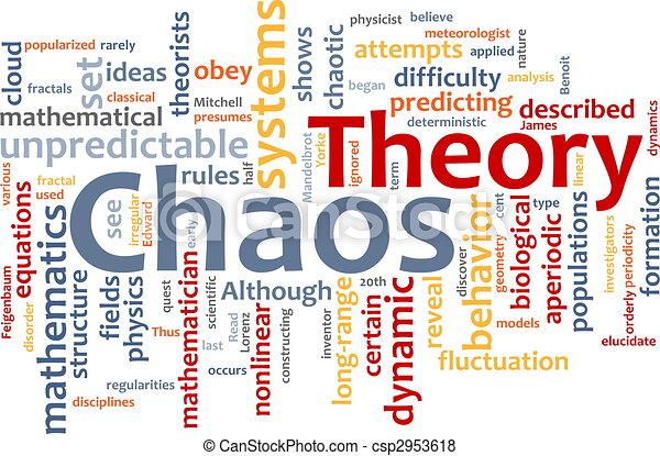 Chaos theory word cloud - csp2953618