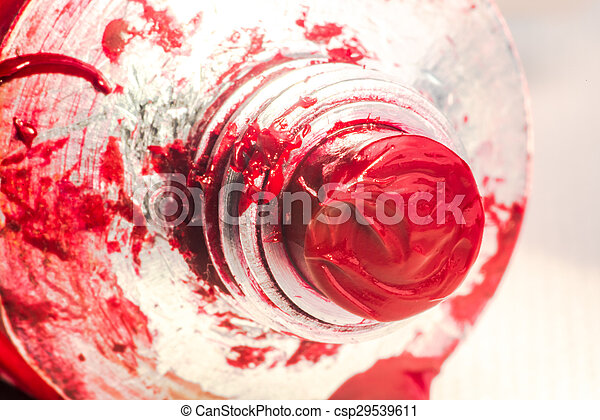 Red Oil Paint from Tube