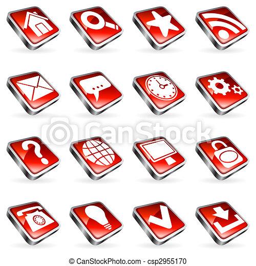 Web icons. - csp2955170