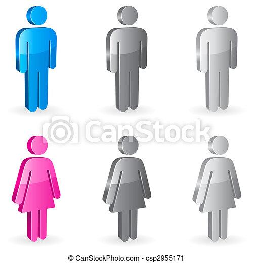 Gender symbols. - csp2955171