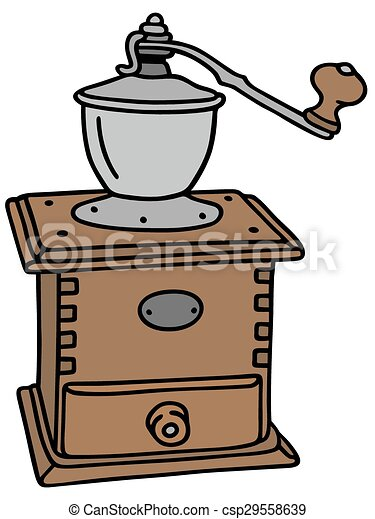 Vectors of Coffee grinder - Hand drawing of a vintage ...