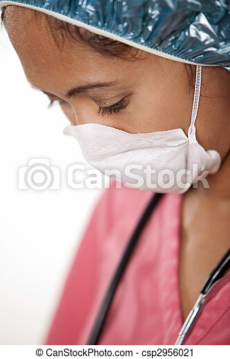 Attractive thirties asian woman doctor nurse - csp2956021