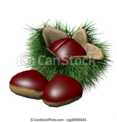 Disegno di castagne il oggetti fatto a 3dcsp29565043 - Disegni di castagne ...