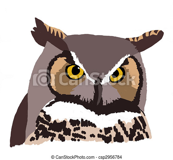 Great Horned Owl - csp2956784