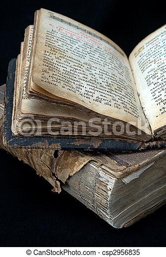 old  religious books  - csp2956835