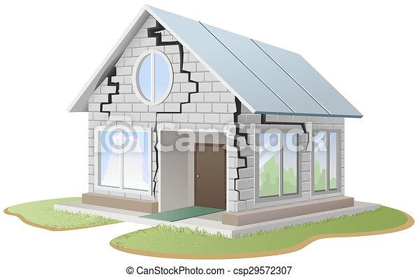 illustration de mur maison brique fissure fissure dans brique mur csp29572307. Black Bedroom Furniture Sets. Home Design Ideas