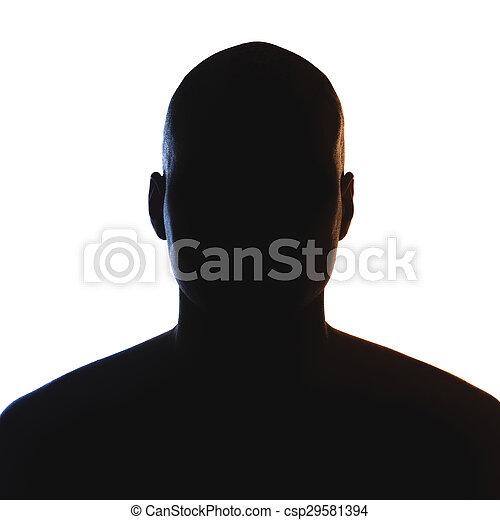 Unknown male person silhouette. - csp29581394