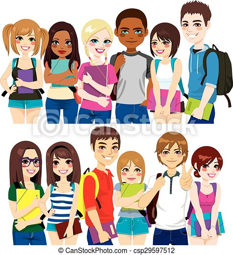 Group of students - csp29597512