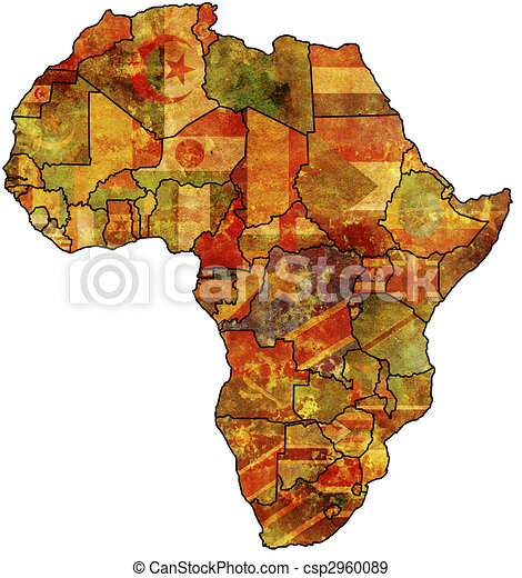 africa old map - csp2960089