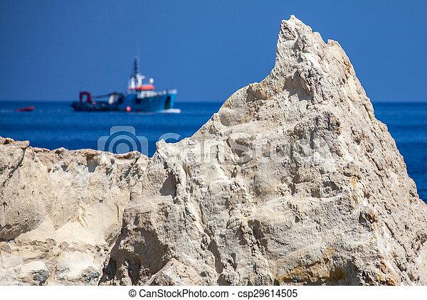 Ship on the sea, Malta - csp29614505