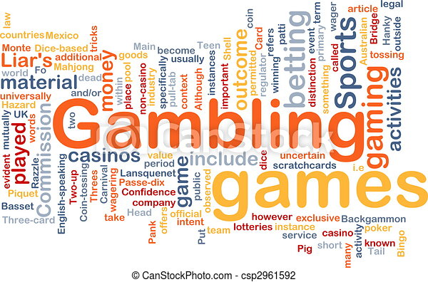 Gambling betting background concept - csp2961592