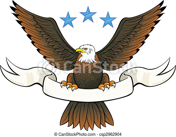 Bald eagle insignia - csp2962904