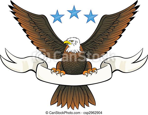 Bald eagle insignia  - csp2962904