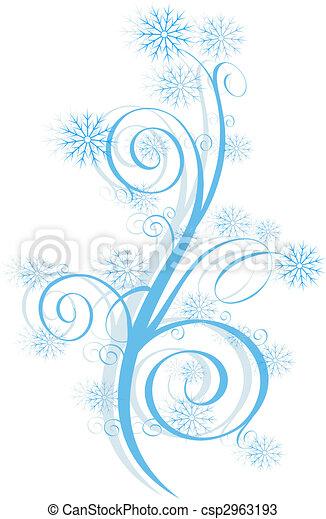 Winter swirl - csp2963193