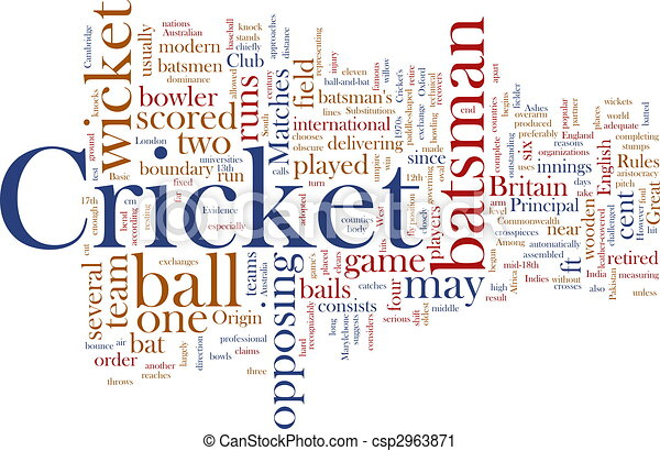 Stock Illustration - Cricket word cloud - stock illustration, royalty ...