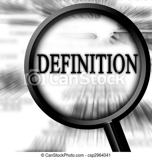 Clipart de définition, sur, a, blanc, fond, à, a, loupe ...