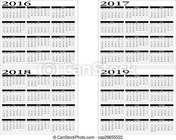 Kalender 2016 med ukenummer