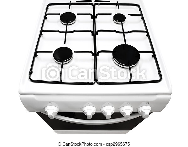Gas Stove Top Clipart Top View of White Gas Stove