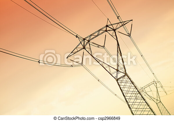 high voltage pylons - csp2966849