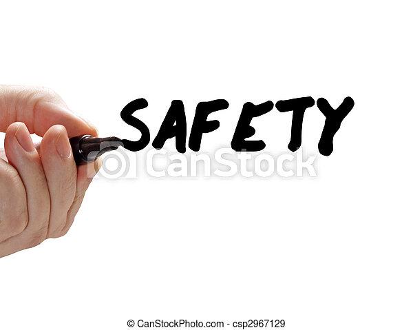 marcador, segurança, mão - csp2967129