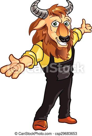 Bison mascot clipart - photo#25