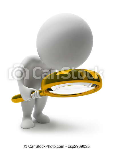 pequeno, people-loupe, 3d - csp2969035