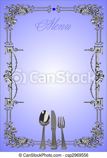 Restaurant (cafe) menu. Vector illustration - csp2969556