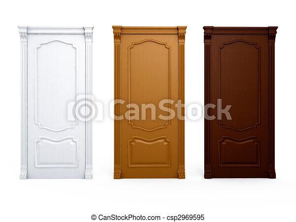 Illustrations de bois maison int rieur porte d tail for Taille porte interieur