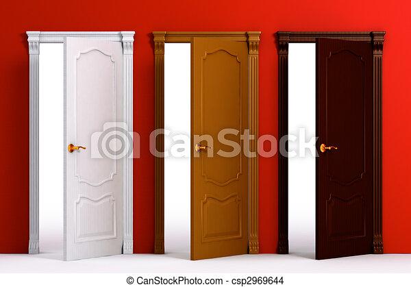 Decoration des portes d'interieur en bois
