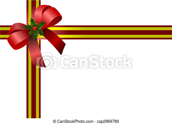 Christmas bow. Colored vector illustration for designers - csp2969789